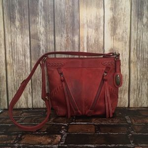 Born Red Leather Crossbody